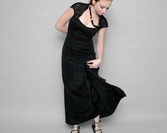 Black evening dress, Black elegant dress, Black dress, Black victorian dress, Black royal dress, Black prom dress, Black bridesmaid dress