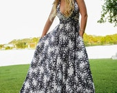 Snowflake Halter Ballgown with Pockets