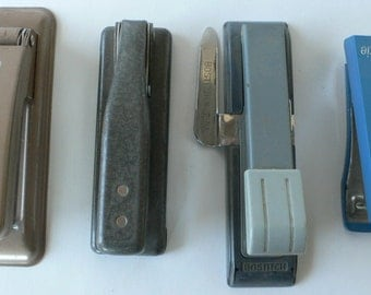 Vintage Stapler collection Industrial Office from Diz Has Neat Stuff