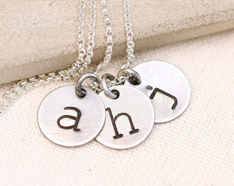 Initial Necklace, Personalized Womens Gift, Nana Gift, Jewelry Gift, Rustic Personalized Necklace, Mother's Necklace, Personalized,