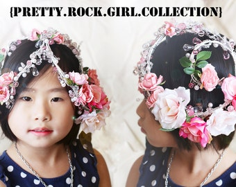 Wedding Rose Garden Crown Crystal Head piece