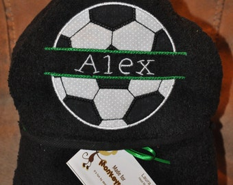 Personalized Soccer Hooded Towel