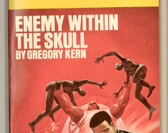 Cap Kennedy No. 4, Enemy Within the Skull by Gregory Kern. PBO FIrst Edition. Science Fiction Vintage Paperback Book DAW UT1093