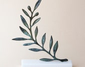 Olive Branch Bronze Sculpture, Metal Art, Greek Museum Quality Art, Olive Tree, Goddess Athena Symbol, Ancient Greece,Most Popular Item