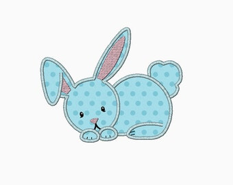 Bunny applique machine embroidery design. Perfect for Easter or Spring designs in multiple sizes. INSTANT DOWNLOAD