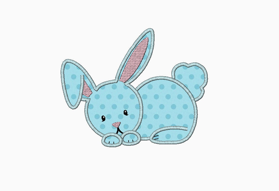 Bunny applique machine embroidery design perfect for easter
