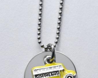 Bus Driver necklace or bracelet - School bus necklace - School Bus Driver Necklace