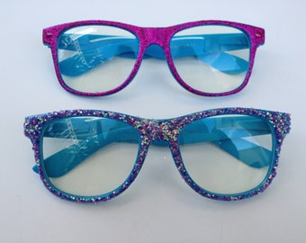 Rave light show glasses- Glitter