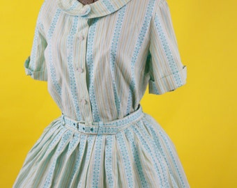 1950s Embroidered Summer Dress