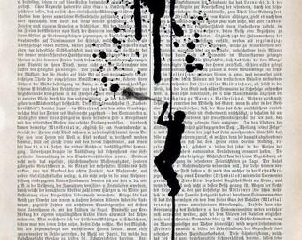 STREET ART Giclee Print Mixed Media Acrylic Painting Illustration Poster