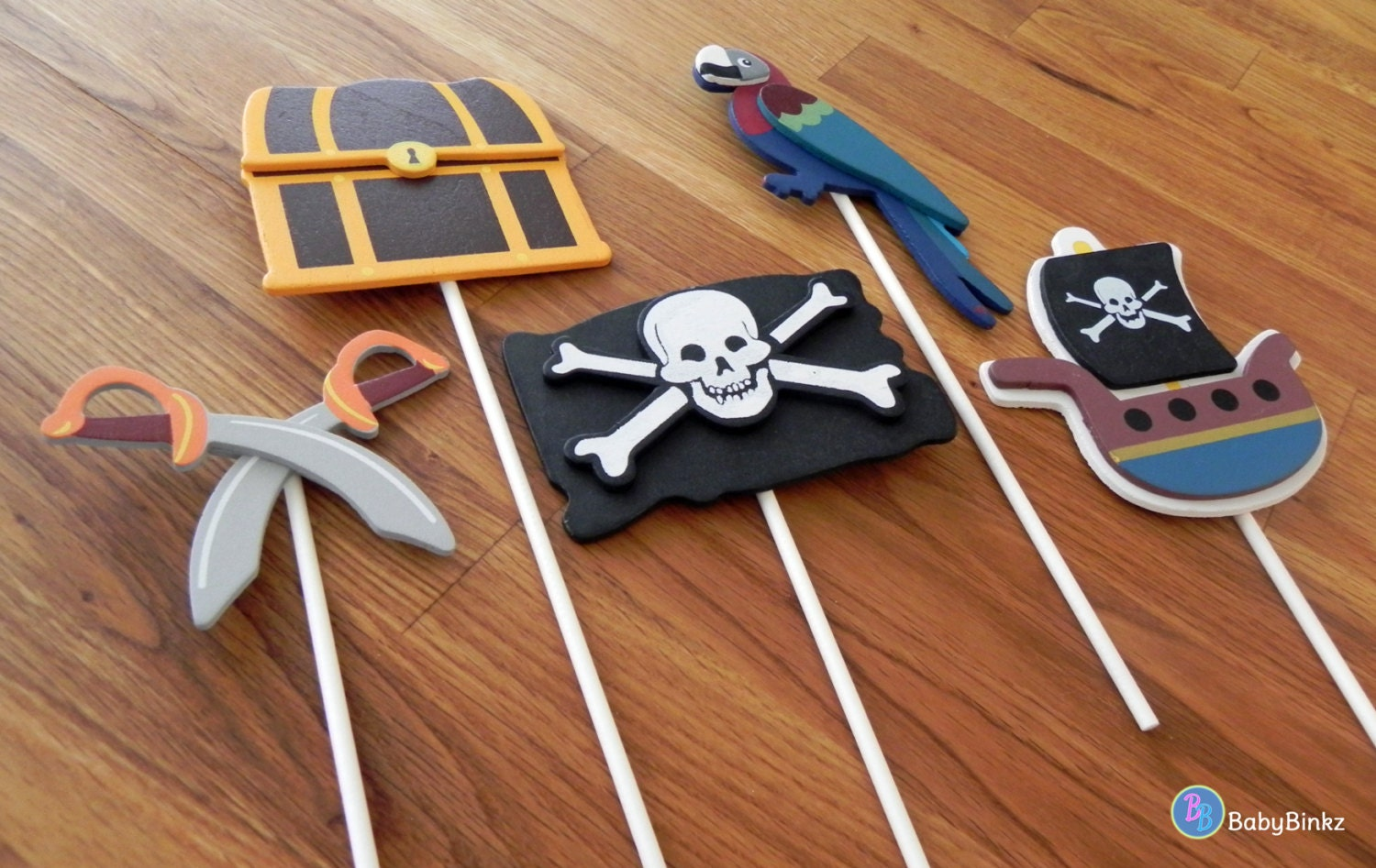 Treasure Chest Decorations Pirate Shapes Cake Toppers Or Party Decorations Pirate Ship