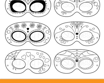 Day Of The Dead Masks Dia De Los Muertos