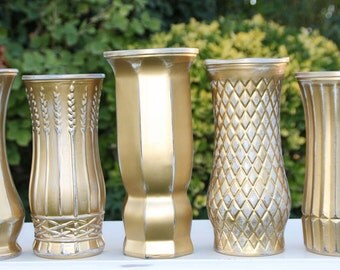 Gold Vase Set Of Five Made to Order