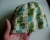 Crochet Baby Boy Beanie