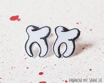 Cute Human Tooth Earrings