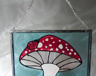 Fantasy Forest Series : Fairy toadstool and ladybirds window decoration