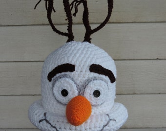 Crochet Olaf Hat From Frozen