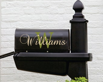 Mailbox Decal With Custom Name  // Personalized Mailbox Name // Name Decal // Custom Monogram // Personalized Mailbox