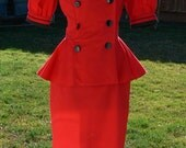 red  double breast dress size 11/12
