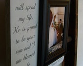 GroomsPARENTfrom Bride13x13 PERSONALIZE Your Wedding Picture Frame Gift  Present You Raised With Love This Man