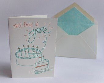 This Piece is Yours Letterpress Greeting Card