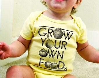 Grow Your Own Food Baby Onesie