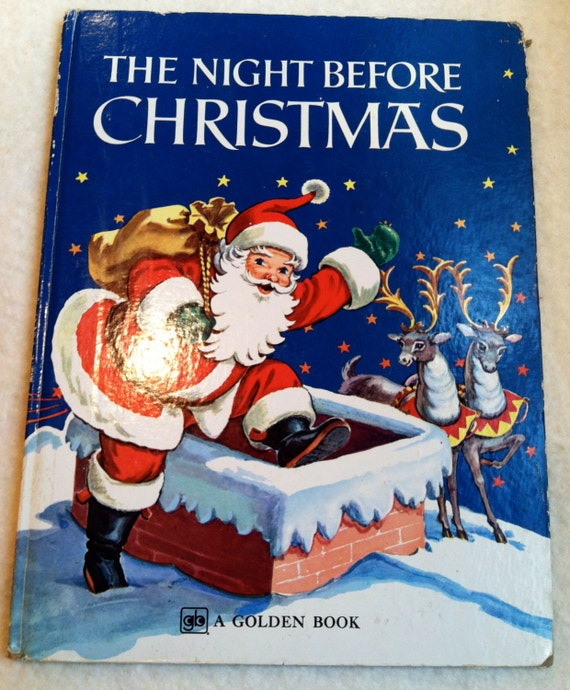 Vintage Large Golden Book-The Night Before Christmas