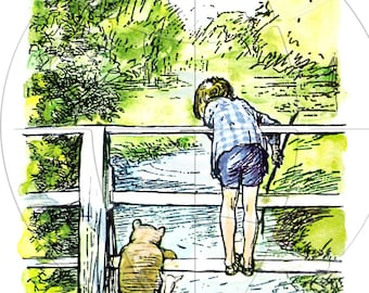 Classic Winnie The Pooh by E.H. Shepard  Prints - Vintage Art Reproduction - Choice of Four