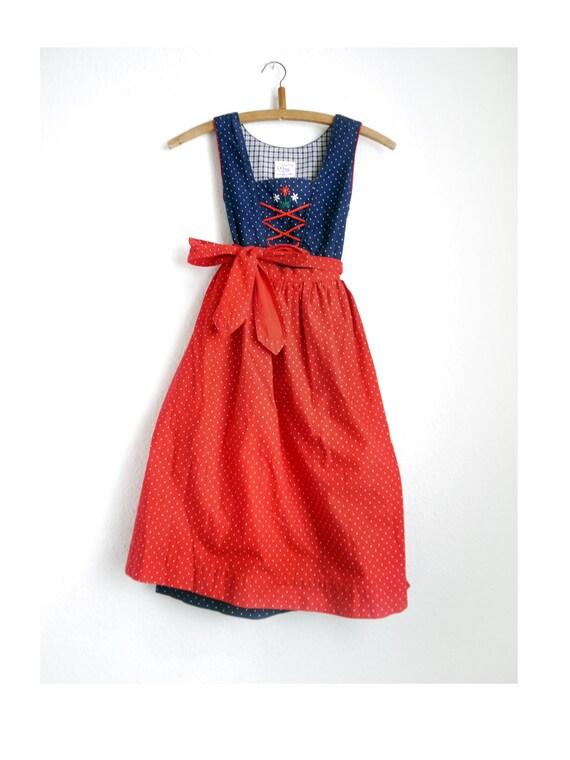 Dirndl for Girls German Kids Dirndl Blue dirndl red Apron