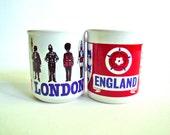 pair of vintage mugs: London & England