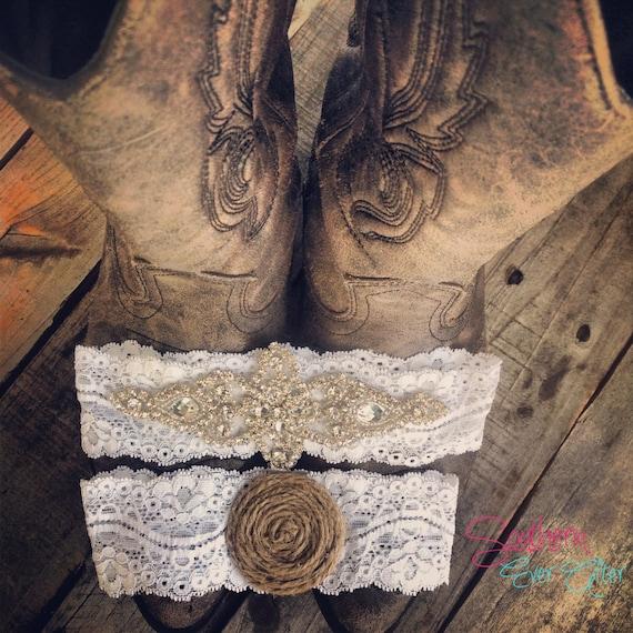 Vintage Inspired Rhinestone Wedding garter / bridal garter/ lace garter / toss garter / Something Blue wedding garter / Shabby Chic