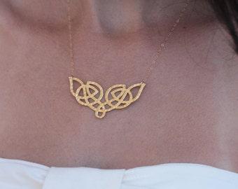 Celtic Necklace , Celtic Pendant, Celtic Charm , Geometric Necklace , Knot Necklace , Gold Celtic Knot , Etnic Necklace , Celtic Jewelry