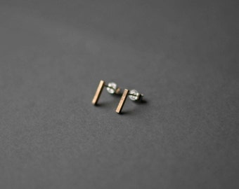 9ct Gold Square Post Stud Earrings