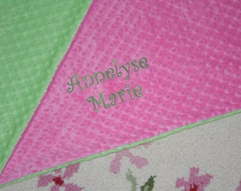 PERSONALIZED Premium Minky Double Sided Blanket