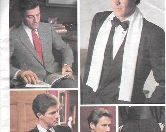 Vintage 1987 Vogue 2826 Men's Ties, Ascot, Scarf, and Cummerbund, One Size