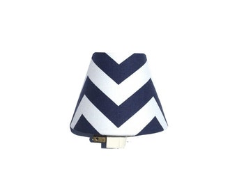 Navy and White Chevron Night Light / Baby Boy Girl Nursery Decor / Nautical Bathroom / Premier Prints Blue