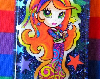 Lisa Frank Space Babe Resin Necklace