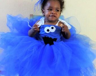 Cookie Monster tutu dress, sesame street tutu dress, cookie monster party, toddler costume, sesame street costume, sesame street party