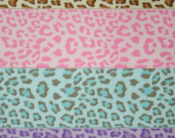 Leopard Print Grosgrain Ribbon 1.5 inches wide