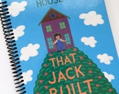 The House That Jack Built Child Journal Notebook Recycled Upcycled Spiral Bound