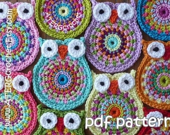 SALE - Crochet pattern OWL 'big brother' by ATERGcrochet