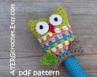 Crochet pattern OWL RATTLE by ATERGcrochet