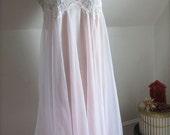 Pink Nightgown Sheer Lace Lingerie Room Wear Fairy Kei Dress