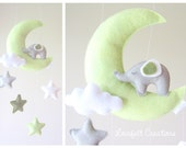 Baby mobile - Mobile moon - Elephant mobile - Crib Mobile elephant - Baby Mobile Stars