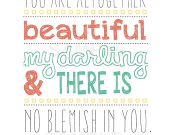 You are Beautiful 8x10 Digital Download