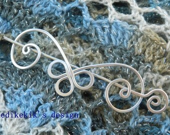 Adorable Celtic Aries Brooch, Hair/Bag/Shawl Pin- Very Light to Wear - Elegant and Decorative Pin/Brooch