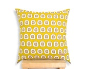 Apple Mustard - Cushion Cover, Nursery, Pillow, Baby/Kids room decor.