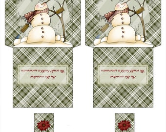 Digital Printable Tea Bag Envelope