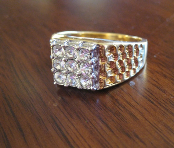 Vintage costume jewelry ring