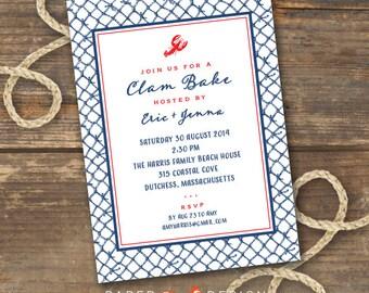 Clam or Lobster Bake Invitation Printable